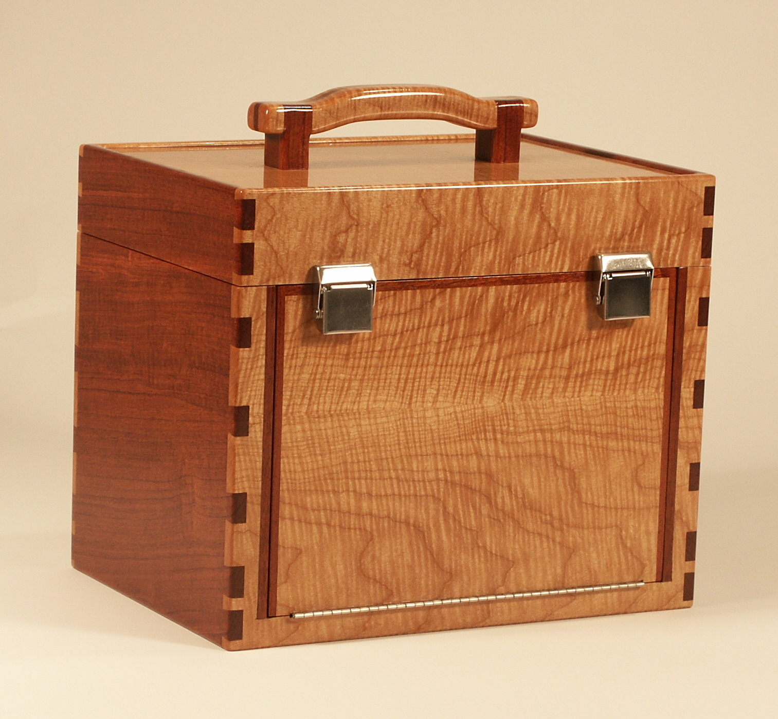 Custom Wood Fishing Tackle Boxes
