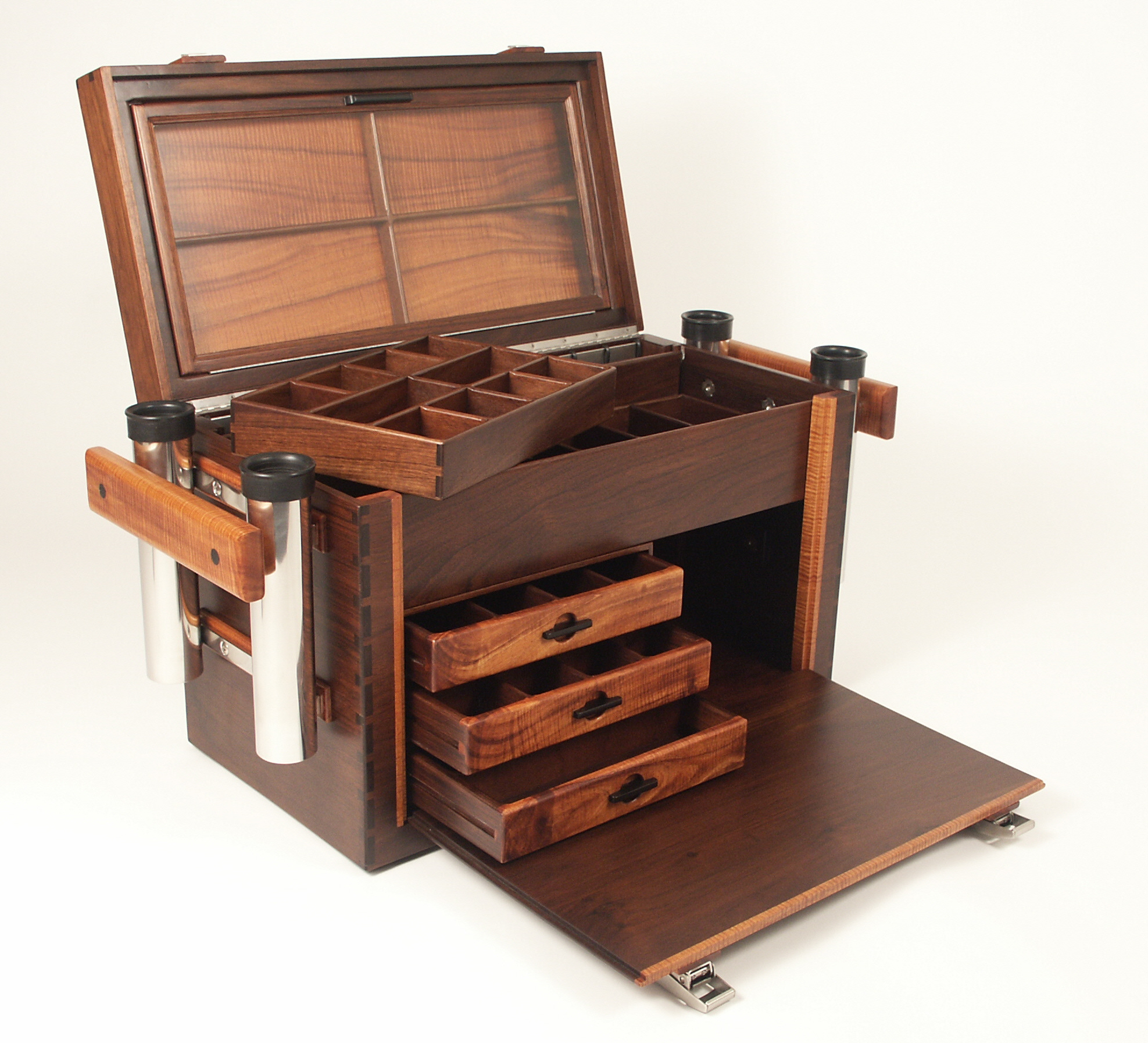 wood tackle box