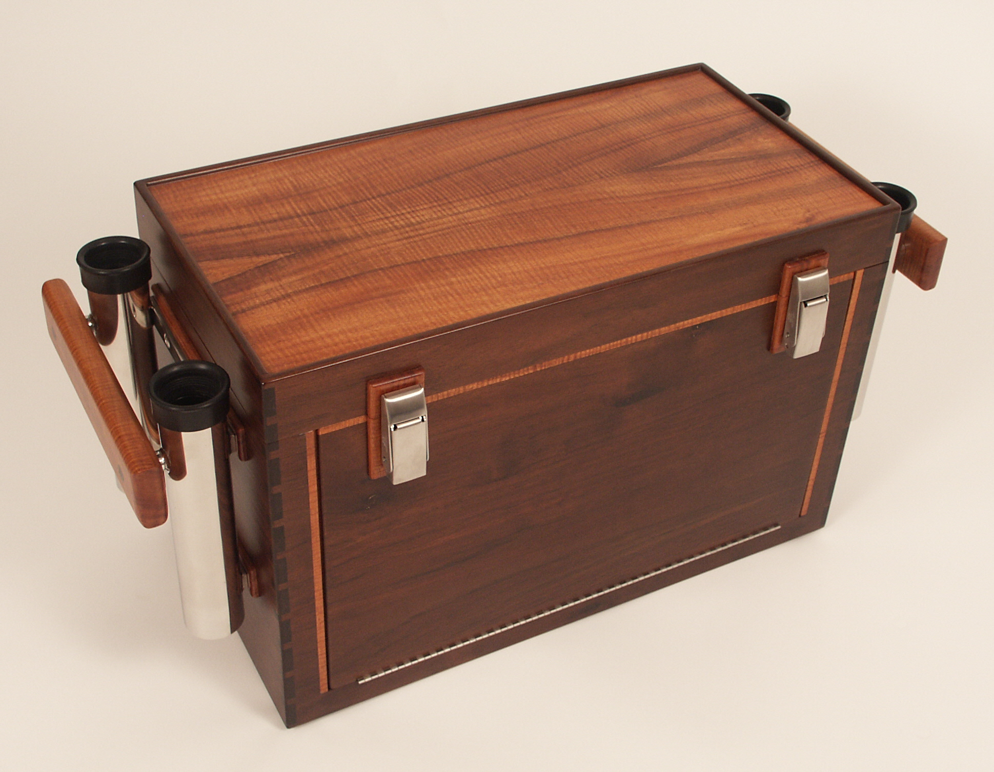 Custom wood fishing tackle boxes for Best fishing tackle box